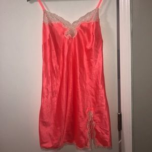 Gently used Victoria's Secret Coral Silk Slip